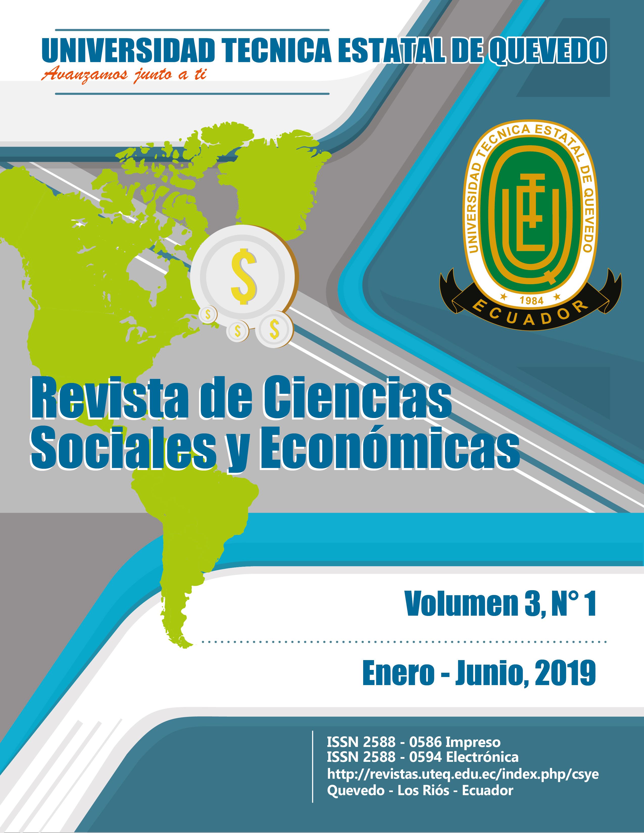 Ver Vol. 3 Núm. 1 (2019): Ciencias Sociales y Económicas (enero-junio 2019)